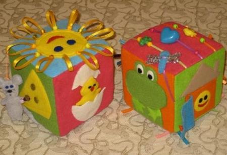 Развивающий куб своими руками